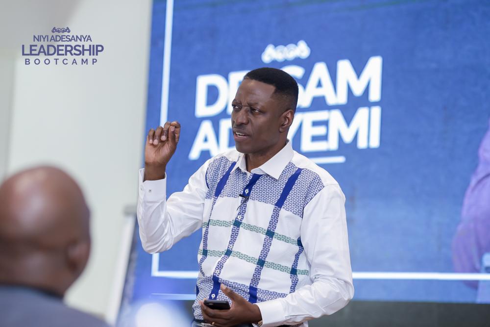 Rev. Sam Adeyemi addressing the participants of #NALB1.0